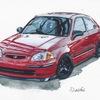 山口県のイラストレーターが描いた、車・バイクの水彩イラストたち!