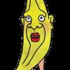 かわいいバナナ のイラスト