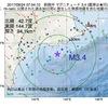 2017年09月24日 07時54分 釧路沖でM3.4の地震