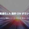 20倍 高速化した進捗 CSV ダウンロード - 隔週報 2021-W32/33
