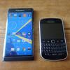 BlackBerry Priv と9900の比較