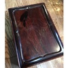 漆で小柄を と 古い硯箱と  (坂根龍我 作品 紹介№356 )