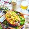 パイナップルとアボカドの南国ムードな美肌サラダ☆とエビス#華みやび