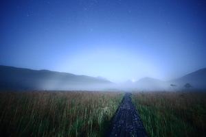 七夕 月夜に白い虹(霧虹・fogbow)を見ました!