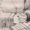 手を組む手の素描