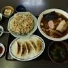 冬の白里海岸近くの食堂で、中華の基本3点セットを頂きました @まつや食堂