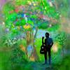 絵: 「樹と少年」を聞いて