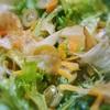 ミモレットとまぐろの花削りのグリーンサラダ