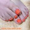 ハンド&フット同日施術にて♡オレンジなビタミンカラーで元気ハツラツに☆フットケアカラーコース