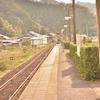 薄靄の鉄路にて