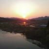 丸山大橋 関川村 夕陽