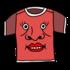 かわいくて赤いシャツ のイラスト