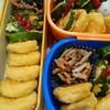 【今日のお弁当】チキンナゲットとピーマンたまご