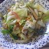 幸運な病のレシピ( 2117 )昼:キャベツ炒め(朝のミズの炒めを仕立て直し)