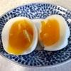 ホットクックで半熟卵(手動メニューの「無水でゆでる」4分)