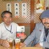 『「ガロ」という時代』に執筆した下原敏彦さんと山下聖美さんと乾杯