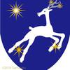 鹿の紋章。星と。