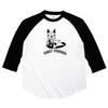 こちらは受注生産になります。フレンチブルドックとパグの七分袖ラグランTシャツ