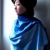 Ayana: blue shawl