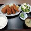 西川口の「あおき食堂」でピーマン肉詰めフライと豚肉巻きフライとアジフライ定食を食べました★