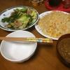 夕食は鶏もも肉の野菜炒め チャレーも実食!