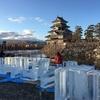 松本氷彫フェスティバルの準備中