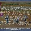394食目「10歳の少女が描いた祖父との思い出は佐賀の名産タマネギ収穫の画」祖父のいる佐賀県白石町が大好きな神戸市に住む女の子(佐賀新聞LIVEより)