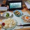 広告の品。 小松菜、揚げ、豚コマ。
