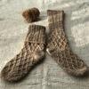 手紡ぎ糸のくつ下