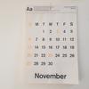 D-BROSの壁掛けカレンダーを愛用。