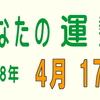 2018年 4月 17日 今日の運勢 (試)