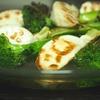 焼き野菜の白だしスープが美味しい