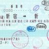 JR東海ツアーズ  新横浜支店発行 連絡乗車券<途中下車印収集>