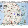 2017年08月22日 06時11分 岩手県内陸北部でM3.3の地震