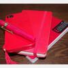 赤い相棒(モレスキン、ジークエンスノート、iphoneケース、万年筆)
