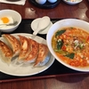 中国料理 餃子菜館@神奈川新町の坦々麺+餃子セット
