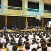 鹿児島市立玉江小学校、学校公演伺いました