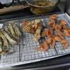 幸運な病のレシピ( 1368 )夜:ししゃも・エビ・竹輪(人参、インゲン)天ぷら、汁