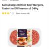 Sainsbury'sのハンバーグ!美味しくてびっくり!