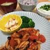 今日の夕食 煮込み豆腐ハンバーグ☆