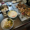 幸運な病のレシピ( 2388 )昼:もやしカニカマ茶碗蒸し、芝海老唐揚げ、イカ唐揚げ、メバチマグロのアヒージョ