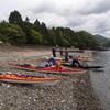 ウネリと海食洞:見江島キャンプツーリング 20170503-04