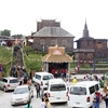 公園内にあるお寺、Sampov Pram Pagoda の記事です。