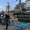 【小鉄スポット】真上を電車が走る港区立本芝公園