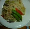 私と食事: 素麺で 焼き素麺??