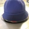学校の帽子を洗ってみました