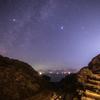 【天体撮影記 第106.5夜】 佐賀県 浜野浦の棚田と夏の大三角形と美しい緑の火球