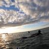 久々の朝一サーフィン