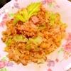 レタスとセロリの焼き豚炒飯