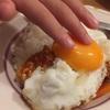 チキントマトカレー 卵のせ☆☆
